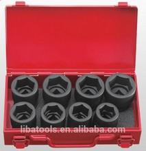 car/truck maintenance six point tire heat treat black finish socket wrench tool set