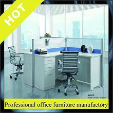 Modern Design Aluminium Frame Glass Office Desk workstation for 3 person Office Partition HJ-9172