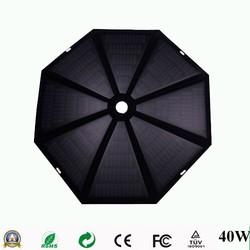 40W outdoor umbrella shape folding solar panel for laptop/car battery/tablet pc/mobile phone