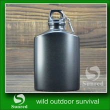 durable new products black aluminum water bottle