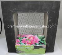 Virtical planter kit with metal mash