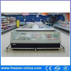 New design hot sale supermarket fish display showcase