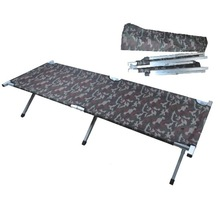 Folding Camouflage Oxford Cloth Aluminum Tube Army Cot