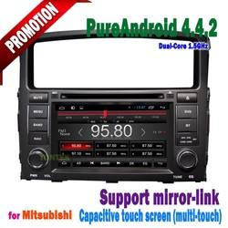 mitsubishi pajero sport car audio android 4.4 touch screen mirror-link +hotspot+radio/DVD/GPS 2006 2007 2008 2009 2 010 2011