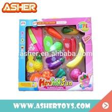 Mini Toys Cutting Fruit Toys Food/ Vegetable Toys Plastic Food Toys Kitchen Toys Set