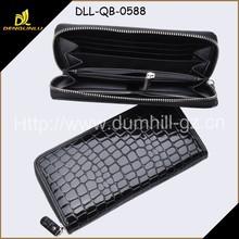 Alligator PU Leather Zip Around Wallet