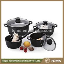 Eco-Friendly 7pc cast aluminium non stick induction cooker Cookware Sets