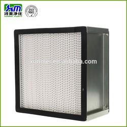 High capacity deep pleated H12 HEPA filter for HVAC