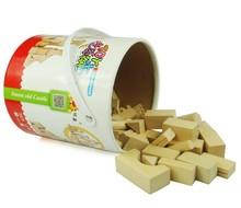 Barrel non-toxic wooden building blocks toys