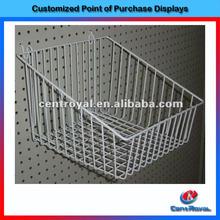 Hot sale supermarket metal retail display baskets