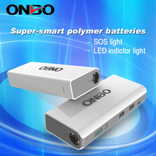 ONBO universal car charger case to start the car emergency car portable battery jump starter with multi function tools
