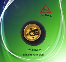 E26 HHW-2 haohong Bakelite with plug/ceramic Lamp Bases/lamp shockets type wholesale price