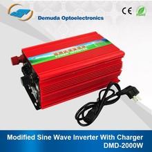DMD 2000w modified sine wave inverter 12v 24v 220v ups inverter battery charger battery