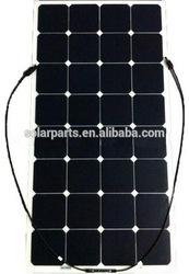 100W sunpower solar cells high efficiency flexible solar panel, High Quality Semi Flexible Solar Panel