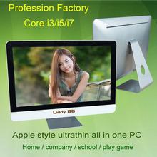 21.5inch ultrathin all in one PC / Core Duo i3-4130 win7/win8 all in one desktop