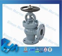 Marine Cast Iron Angle Globe Valve Electric Water JIS Marine Valve
