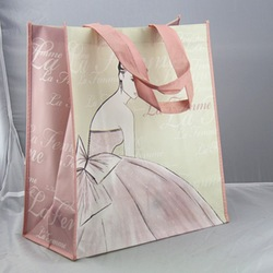 colorful laminated non woven shopping bags