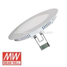 High quality CE /GS IP44 6 watt round led panel light 115mm,cutting 105mm led panel light