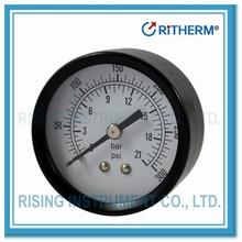 11000501 Dry black steel case bourdon tube pressure gauge