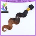 venta al por mayor la extensión del pelo ondulado virgen brasileño ombre armadura del pelo