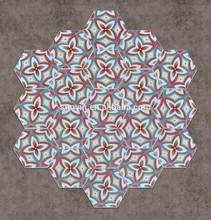 Hexagonal ceramic tiles for Floor and Wall