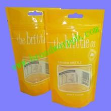 custom printed resealable plastic ziplock standing bags window for food