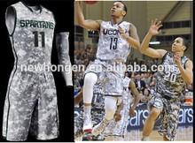 custom sublimation basketball jersey,camo basketball uniforms design china supplier