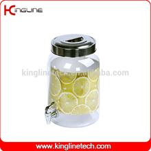 BPA free 2.2G round plastic water jug wholesale BPA free with spigot OEM (KL-8014)