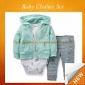 Pcs 3 para bebés de la marca europea mameluco del conjunto de los niños ropa de otoño sfudr- 254