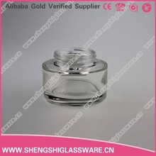 2015 New Colorful 50ml Cosmetic Glass Bottle With Lid
