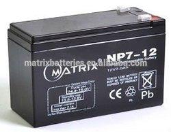 ABS case seal battery 12v 7ah 20hr