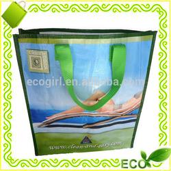 2015 laminated gravure printing eco friendly woven bag