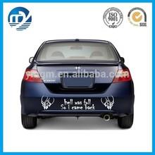 Custom printed vinyl car sticker / adhesive car window decal