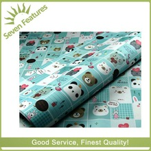 2015 cute animal print gift wrapping paper