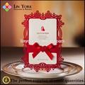 especial 2015 lujoso estilo del corte del laser de la tarjeta de invitación de boda
