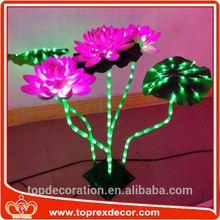 Hotel LED decorative lotus flower tea