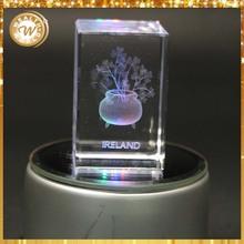decorative 3d laser engraved crystal block