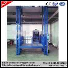 10m 1000kg Wall Mounted Hydraulic platform lift / Cargo Lift Elevator