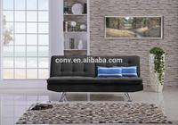 Black Fabric Click Clack Cheap Sofa Bed