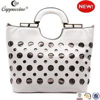 2015 newest wholesale lady leather handbag purse and handbag for women