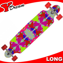 Chinese Maple Drop Through bamboo longboard skateboard For Beginners