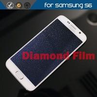 high quality diamond screen protector film for Samsung galaxy S6