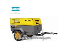 Electric drive Atlas Copco portable screw air compressor (3m3/min 7bar) XA57E
