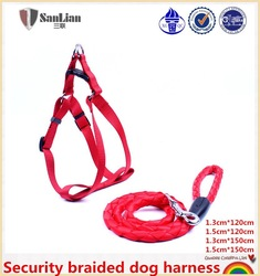 Red high-end security braided dog harness of Chinese manufacturer