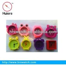 Promotion gift silicon desktop mini animal decorative alarm clock for kid gift