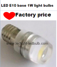 E10 led amusement light bulb 3v