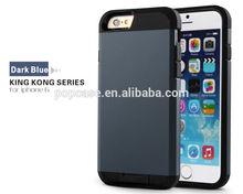 Dark blue PC + black tpu King Kong Combo Case for apple iphone 6
