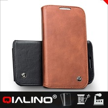 QIALINO Simple Brand New Design Leather Cartoon Case For Samsung For Galaxy S4