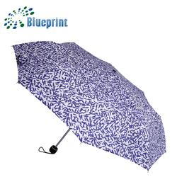 23inch aluminum frame super lightweight 3 foldable umbrella