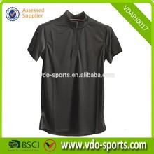 Mens Half Zipper Black Custom Sports Athletic Jersey